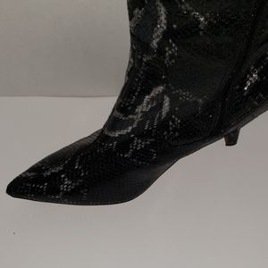 J RENEE Shoes - J. Renee Snake Print Pointed-Toe Tall Boots